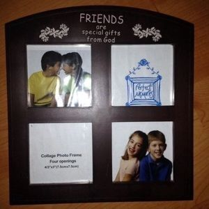Brown Plastic Family Collage Photo Frame